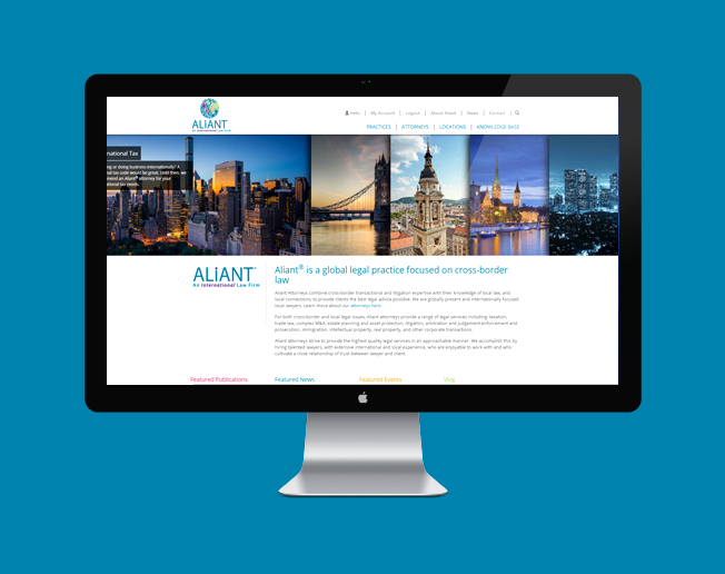 Screenshot of the Aliant® website