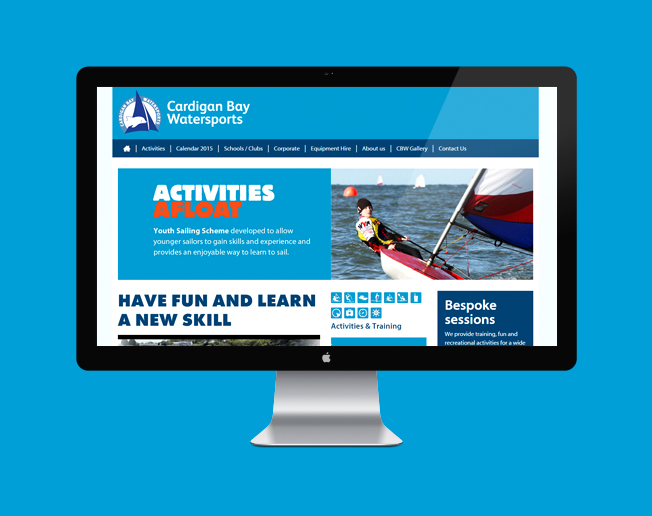 Screenshot of the Cardigan Bay Watersports website