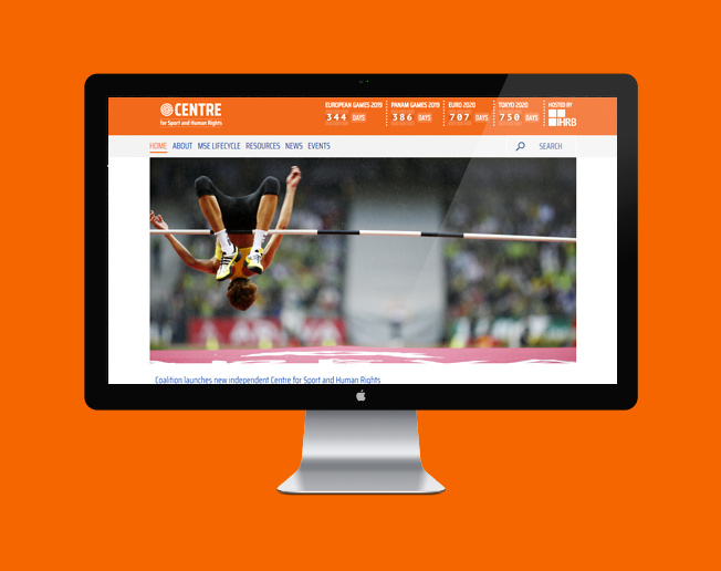 Screenshot of the Centre for Sport and Human Rights website