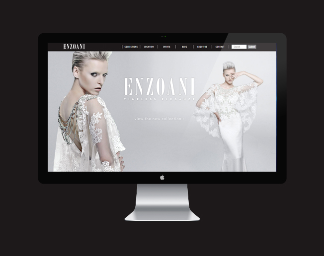 Screenshot of the Enzoani website
