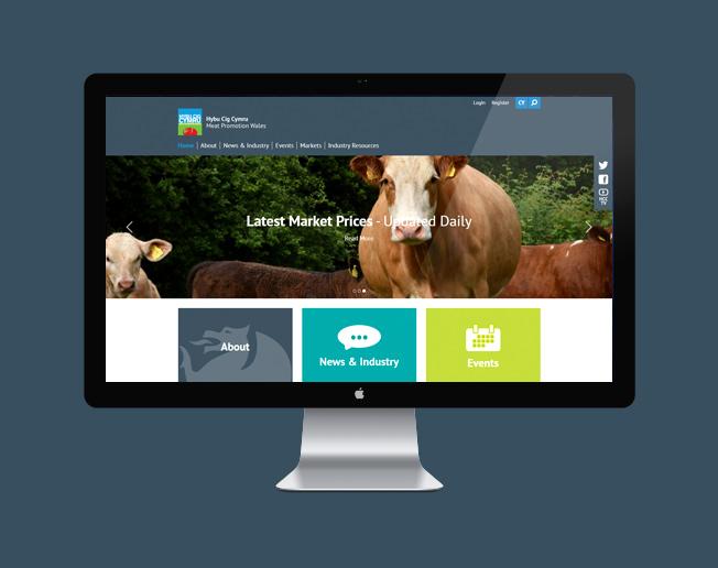 Screenshot of the Hybu Cig Cymru / Meat Promotion Wales website